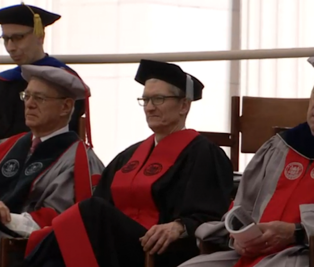 Apple CEO Tim Cook at MIT's graduation on June 9, 2017.