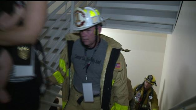An event in San Diego Sunday honored the 343 firefighters and other rescue workers who died in the collapse of the World Trade Center towers on 9/11. (KSWB-San Diego)
