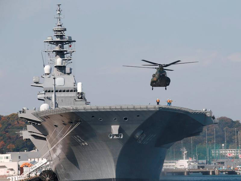 Japan izumo aircraft carrier helicopter JMSDF