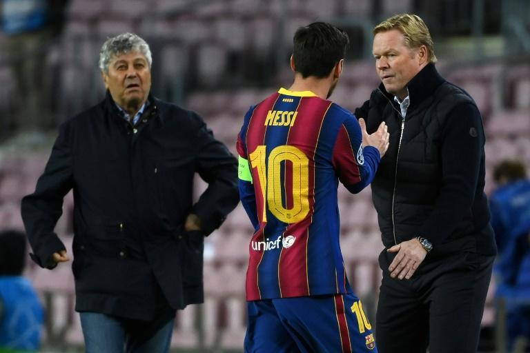 Barcelona coach Ronald Koeman has said it is not his job to persuade Lionel Messi to stay at the club.