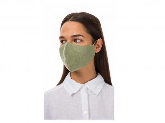 Germs find it harder to breed in linen, making it a good fabric for a face covering (Plumo)