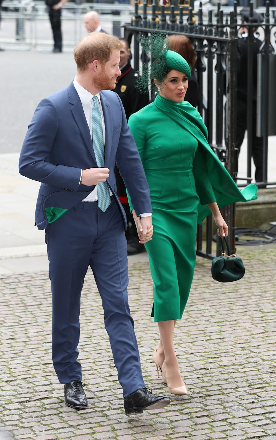 The Duke and Duchess of Sussex arrive at the Commonwealth Service at Westminster Abbey, London on Commonwealth Day. The service is the Duke and Duchess of Sussex's final official engagement before they quit royal life.