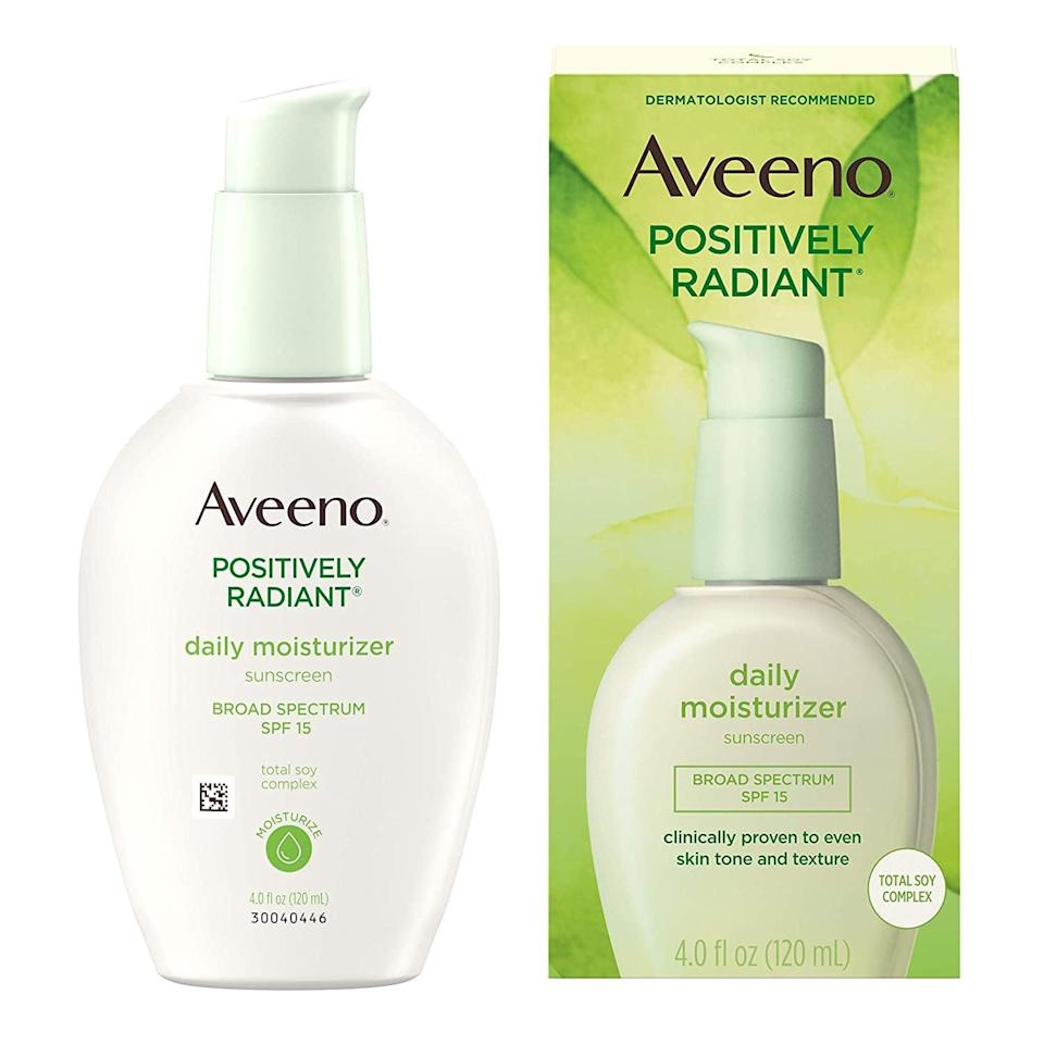 <p>This <span>Aveeno Active Naturals Moisturizer</span> ($14, originally $17) has sunscreen, and the brand touts that it is clinically shown to help improve skin's texture and tone.</p>