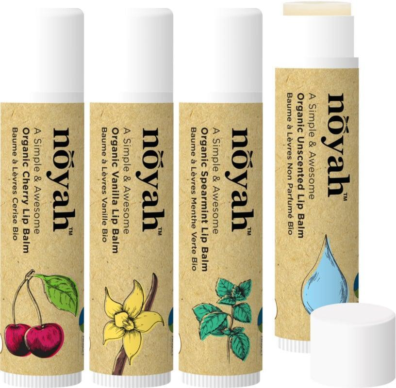 <p>Moisturize your lips without getting bored of the flavors with the <span>noyah Organic & Natural Lip Balm 4 Flavor Combo Pack</span> ($12).</p>