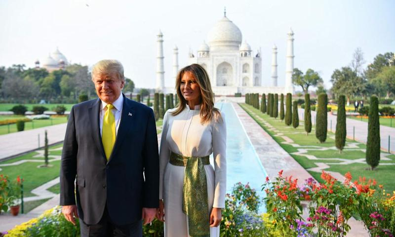 Donald and Melania Trump at the Taj Mahal: