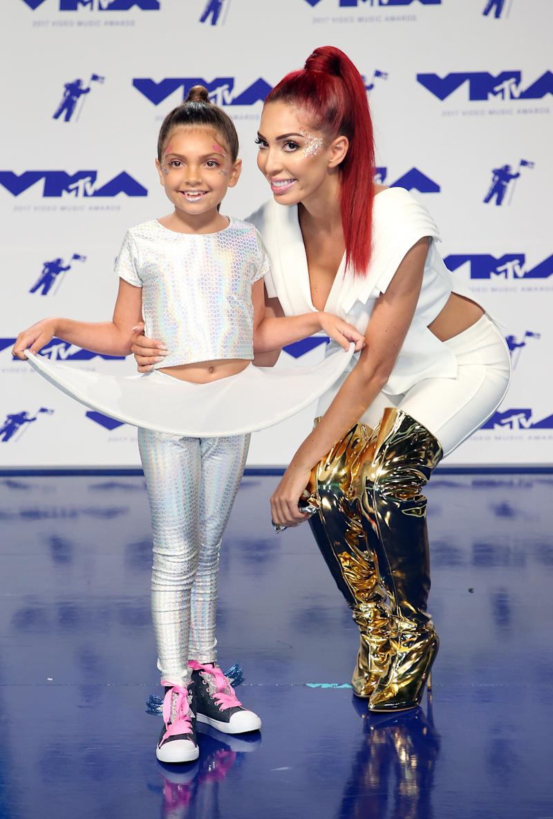 Farrah Abraham brought her 8-year-old daughter, Sophia, to the VMAs. (Danny Moloshok / Reuters)