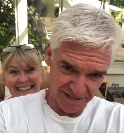 Phillip Schofield after his haircut by wife Stephanie (Schofe/Instagram)