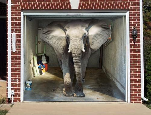 """<b>Elephant</b><br>(Price: $229)<br><br>Credit: <a href=""""https://www.style-your-garage.com/us/Garage-mural/?cur=3"""">style-your-garage.com</a>"""