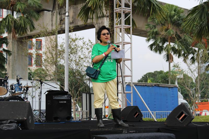 Chairperson for RFL KL Datuk Zuraidah Atan gives her opening speech. — Picture courtesy of the National Cancer Society of Malaysia