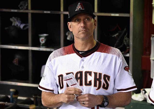 Manager Torey Lovullo of the Arizona Diamondbacks, pictured here, won the 2017 National League Manager of the Year award (AFP Photo/Norm Hall)