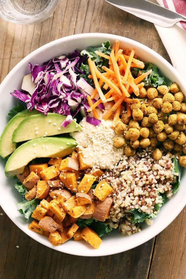 "<p>Affordable and filling chickpeas — elevated with spices — are the foundation for this fantastic dinner loaded with superfoods, like avocado, sweet potatoes, and kale.</p><p><strong>Get the recipe on <a href=""https://urldefense.proofpoint.com/v2/url?u=https-3A__www.urbanaccents.com_recipe_curry-2Dchickpea-2Dprotein-2Dbowl_&d=DwMFaQ&c=B73tqXN8Ec0ocRmZHMCntw&r=h5DPJq7gSId3tCAFZnuSQSCLjUu37AqhsTJ1ltcAu2s&m=8-gytj9ABW-KMr_TP_nbMovgvhUic09vlmKZ5L2fc3E&s=NHXKWbacgGQ9tQF7_6x-Mm-nzMa_fBpxWNaPUmd3rhc&e="" rel=""nofollow noopener"" target=""_blank"" data-ylk=""slk:Urban Accents"" class=""link rapid-noclick-resp"">Urban Accents</a>.</strong></p>"
