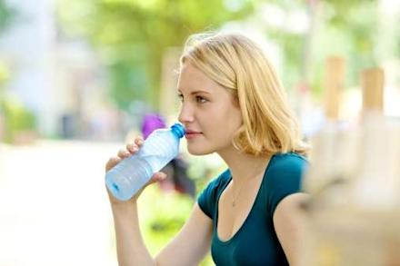 Keep a bottle of water in your handbag to stay healthy and hydrated throughout the day