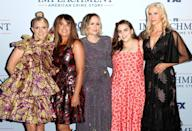 <p>Annaleigh Ashford, Monica Lewinsky, Sarah Paulson, Beanie Feldstein and Mira Sorvino attend the premiere of FX's <em>Impeachment: American Crime Story</em> at the Pacific Design Center on Sept. 1 in West Hollywood.</p>