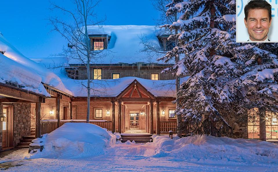 """<p><strong>Location:</strong> Telluride, Colorado</p> <p>In March, the 58-year-old actor decided to list his 320-acre estate in Telluride, Colorado, asking $39.5 million.</p> <p>The 7-bedroom, 9-bathroom property is where he famously sat down <a href=""""https://www.oprah.com/world/exclusive-from-his-telluride-home-the-tom-cruise-interview_1/all"""" rel=""""nofollow noopener"""" target=""""_blank"""" data-ylk=""""slk:for an interview"""" class=""""link rapid-noclick-resp"""">for an interview</a> with <a href=""""https://people.com/tag/oprah-winfrey/"""" rel=""""nofollow noopener"""" target=""""_blank"""" data-ylk=""""slk:Oprah Winfrey"""" class=""""link rapid-noclick-resp"""">Oprah Winfrey</a> in 2008 and, a year and a half earlier, opened up to <em><a href=""""https://www.vanityfair.com/news/2006/10/suri200610"""" rel=""""nofollow noopener"""" target=""""_blank"""" data-ylk=""""slk:Vanity Fair"""" class=""""link rapid-noclick-resp"""">Vanity Fair</a></em> alongside then-fiancée <a href=""""https://people.com/tag/katie-holmes/"""" rel=""""nofollow noopener"""" target=""""_blank"""" data-ylk=""""slk:Katie Holmes"""" class=""""link rapid-noclick-resp"""">Katie Holmes</a>, sharing the first photos of their daughter, Suri.</p> <p>According to <em>Vanity Fair</em>, Cruise began making plans for the compound more than 30 years ago. He completed it in 1994 and previously <a href=""""https://www.wsj.com/articles/tom-cruise-lists-in-telluride-for-59-million-1414691285"""" rel=""""nofollow noopener"""" target=""""_blank"""" data-ylk=""""slk:put it on the market for $59 million"""" class=""""link rapid-noclick-resp"""">put it on the market for $59 million</a> back in 2014.</p> <p><a href=""""https://people.com/home/tom-cruise-selling-telluride-colorado-home-ranch-40-million-photos/"""" rel=""""nofollow noopener"""" target=""""_blank"""" data-ylk=""""slk:See more photos of Tom Cruise's home."""" class=""""link rapid-noclick-resp"""">See more photos of Tom Cruise's home.</a></p>"""
