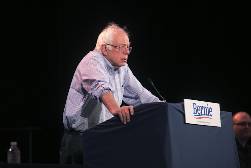 Bernie Sanders holds a rally on jobs, healthcare, and the economy at Shawnee State University on August 22, 2017: Getty Images