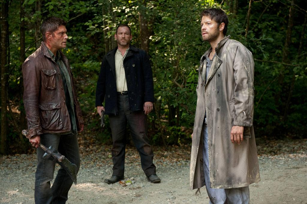 "Jensen Ackles as Dean, Ty Olsson as Benny and Misha Collins as Castielin the ""Supernatural"" episode, ""What's Up, Tiger Mommy?."""