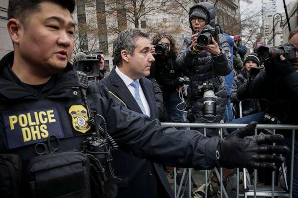 PHOTO: In this Dec. 12, 2018, file photo, Michael Cohen, President Donald Trump's former personal attorney and fixer, exits federal court after his sentencing hearing in New York. (Drew Angerer/Getty Images, FILE)