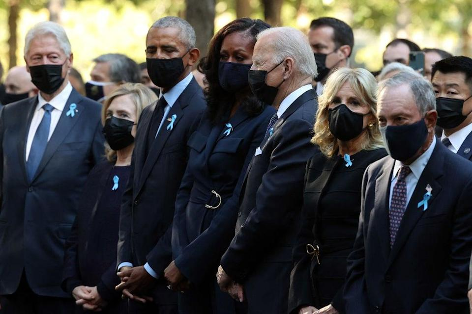 Biden joins Obamas and Clintons during 9/11 memorial moments of silence (POOL/AFP via Getty Images)