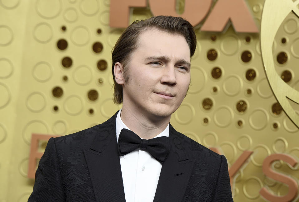 Paul Dano arrives at the 71st Primetime Emmy Awards on Sunday, Sept. 22, 2019, at the Microsoft Theater in Los Angeles. (Photo by Jordan Strauss/Invision/AP)
