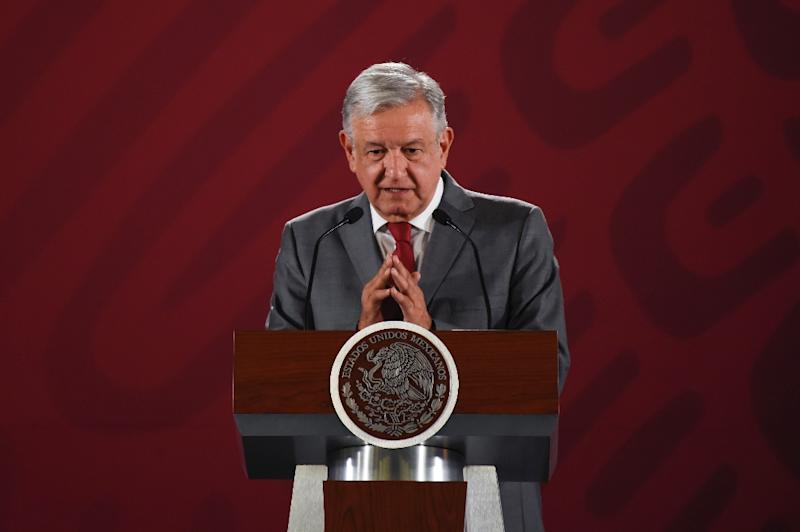 Mexican President Andres Manuel Lopez Obrador was restrained in his reponse to the tariffs (AFP Photo/Alfredo ESTRELLA)