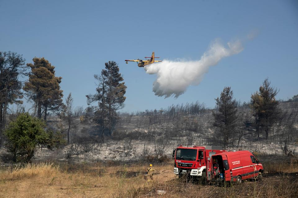 Greece Wildfire (Copyright 2021 The Associated Press. All rights reserved.)