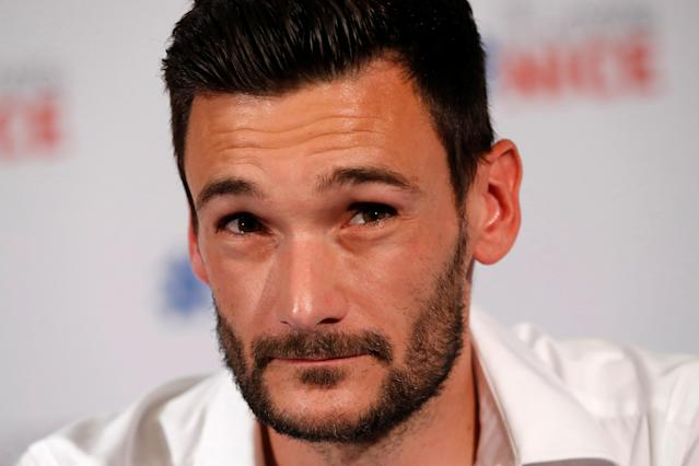 France soccer team goalkeeper Hugo Lloris speaks during a news conference at the city hall in Nice, after their victory in the 2018 Russia Soccer World Cup, France, July 18, 2018. REUTERS/Eric Gaillard