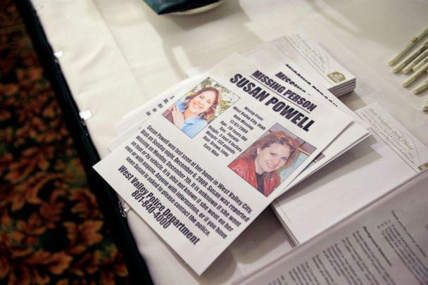 PHOTO: A flier seeking information on the whereabouts of Susan Powell, who was reported missing in Utah on Dec. 7, 2009, at a press conference in Puyallup, Wash., Dec. 17, 2009. (Ted S. Warren/AP)