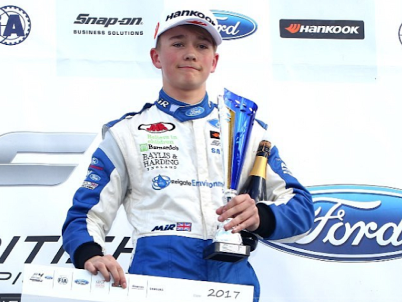 Billy Monger has been described as an 'extremely talented young driver': Instagram