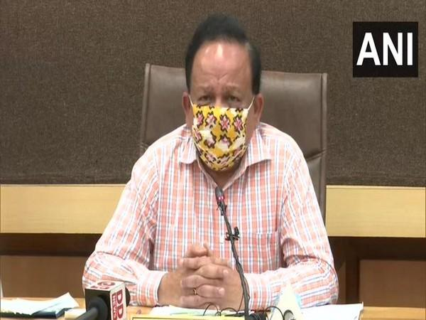 Union Health Minister Harsh Vardhan chairs 20th GoM meeting in New Delhi on Saturday. Photo/ANI