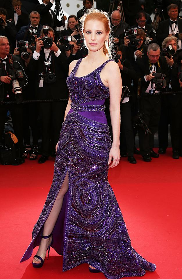 CANNES, FRANCE - MAY 22:  Actress Jessica Chastain attends the 'All Is Lost' Premiere during the 66th Annual Cannes Film Festival at Palais des Festivals on May 22, 2013 in Cannes, France.  (Photo by Andreas Rentz/Getty Images)