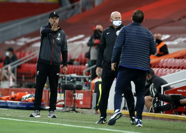 Klopp and Chelsea counterpart Frank Lampard were involved in a touchline altercation last time they met