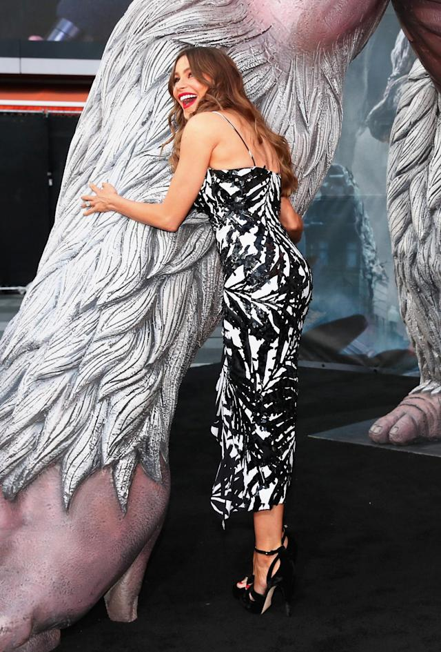 Sofia Vergara attends the premiere of <em>Rampage</em> at the Microsoft Theater on April 4, 2018, in Los Angeles. (Photo: Getty Images)