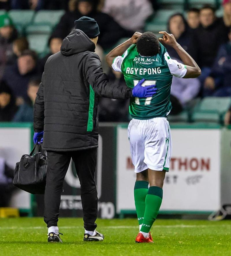 Hibernian in discussion with Man City over Agyepong's future, says Lennon