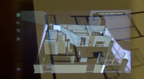 Blueprint with augmented reality