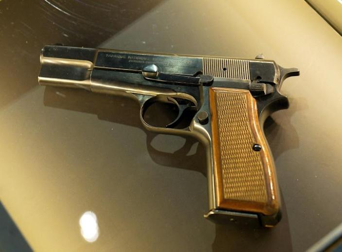 The Browning handgun used by Mehmet Ali Agca to shoot the pope at close range