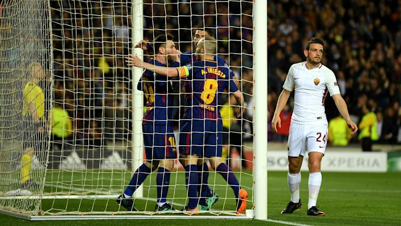 UEFA charges Barcelona with 'throwing of objects' in Champions League clash