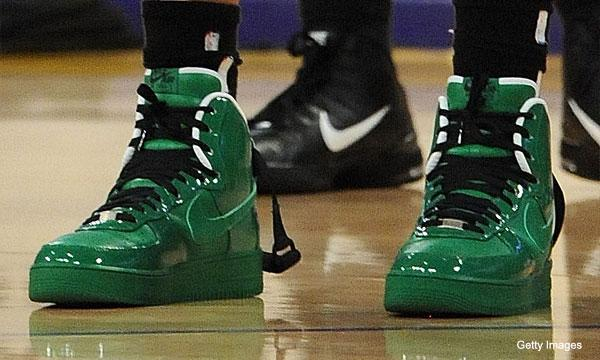 Sheed debuts some fly green shoes