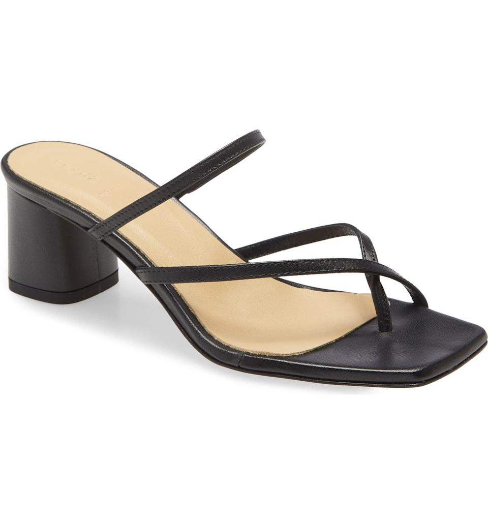 <p>We love everything about this <span>Aeyde Larissa Sandal</span> ($295): the square-toe, refined straps and block heel.</p>