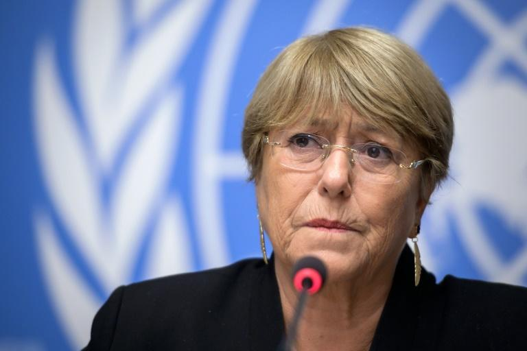 UN Human Rights High Commissioner Michelle Bachelet (pictured September 2019) received reports that at least 17 people had been killed in connection with the protests that have rocked Bolivia