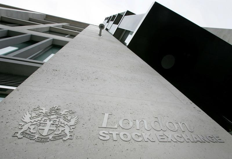 The outside of the London Stock Exchange building is seen in the City of London.