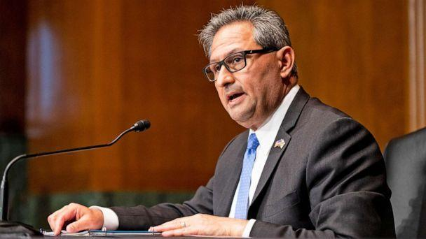PHOTO: Michael Carvajal, Director of the Federal Bureau of Prisons, testifies during the Senate Judiciary Committee oversight hearing of the Federal Bureau of Prisons on April 15, 2021 in Washington, D.C.  (Bill Clark/CQ-Roll Call, Inc via Getty Images)