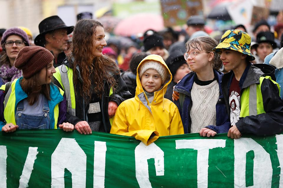 Swedish environmental activist Greta Thunberg attends the youth climate protest in Bristol (REUTERS/Peter Nicholls)