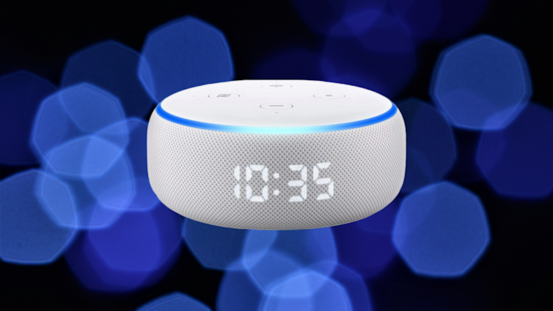 Save 42 percent on the all-new Echo Dot with digital clock. (Photo: Amazon)