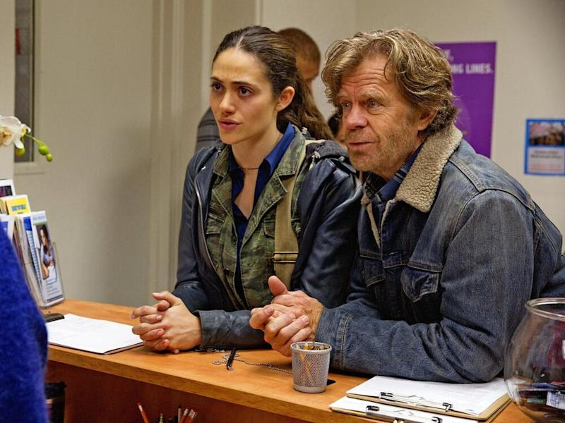 Emmy Rossum and William H. Macy in Shameless