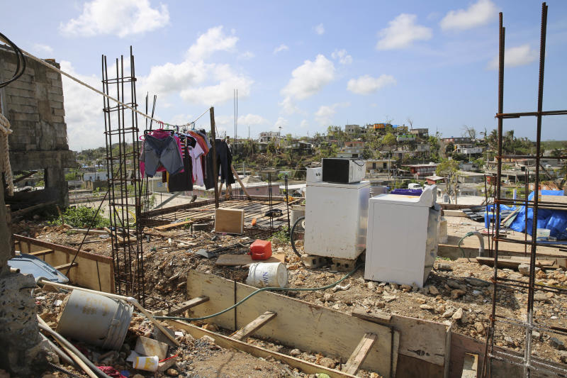 Many of the houses in Valle Hill and its neighboring communities, Villa Hugo 1 and 2, were destroyed by Hurricane Maria.