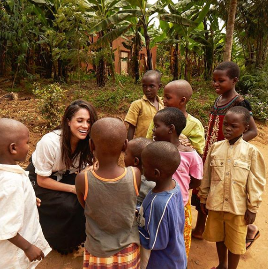 Meghan has worked with the UN, sharing snaps of her humanitarian trip to Rwanda. Photo: Instagram