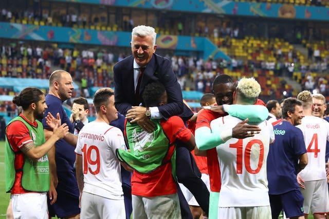 Jubilation for Vladimir Petkovic after Switzerland upset favourites France in the round of 16