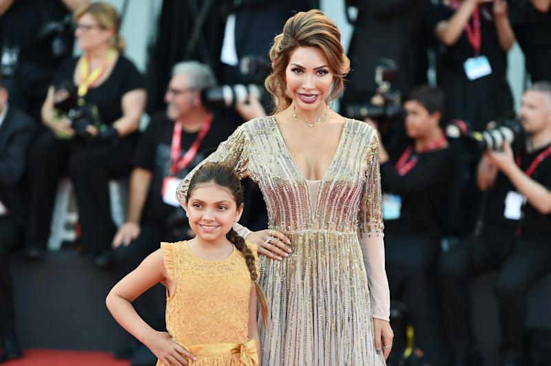 Farrah Abraham and daughter Sophia on the red carpet