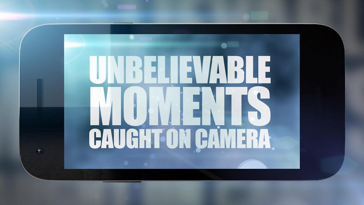 From MultiStory Media  UNBELIEVABLE MOMENTS CAUGHT ON CAMERA Ep2  Tuesday 28th September 2021 on ITV   Pictured; Logo  This new episode of Unbelievable Moments Caught On Camera features more jaw dropping footage filmed by members of the public. Alexander Armstrong narrates video clips from across the globe, as those behind the fascinating stories share their memories of these once-in-a-lifetime experiences. From the dramatic moment a man in danger of being swept over a steep waterfall is rescued from a fast-flowing icy river, to the family whose home was invaded by thousands of birds, the programme is filled with incredible, life-changing events, all of them captured on camera.  (C) Multistory Media   For further information please contact Peter Gray  peter.gray@itv.com 07831 460 662  This photograph is copyright  Multistory Media and can only be reproduced for editorial purposes directly in connection with the programme UNBELIEVABLE MOMENTS CAUGHT ON CAMERA or ITV. Once made available by the ITV Picture Desk, this photograph can be reproduced once only up until the Transmission date and no reproduction fee will be charged. Any subsequent usage may incur a fee. This photograph must not be syndicated to any other company, publication or website, or permanently archived, without the express written permission of ITV Picture Desk. Full Terms and conditions are available on   www.itv.com/presscentre/itvpictures/terms