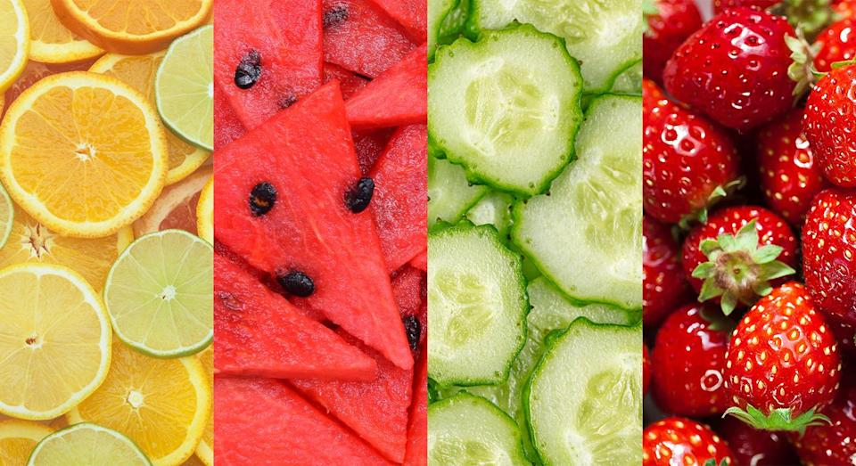 Stock up on these high-water fruits and vegetables now to stay hydrated [Photos: Getty]
